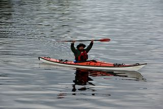 Captain Josh out for a paddle on our last Alaska Adventure trip of the seaon!!