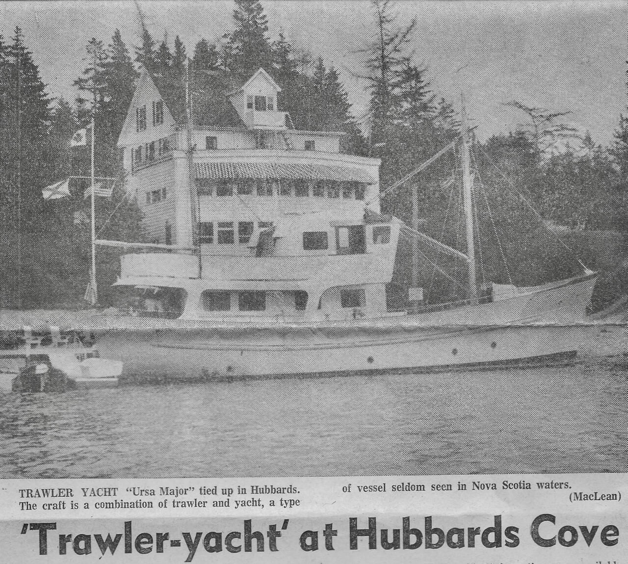The Ursa Major in Hubbards Cove, Nova Scotia, 1973