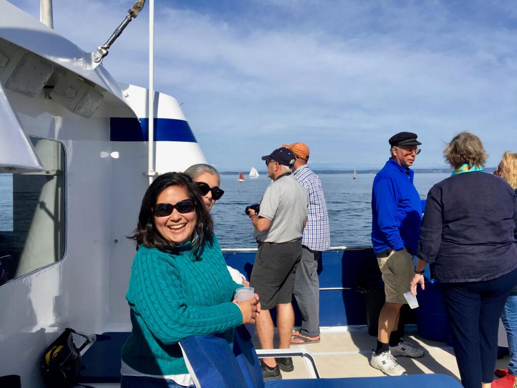 The Sunday Sail-By aboard the Ursa Major.