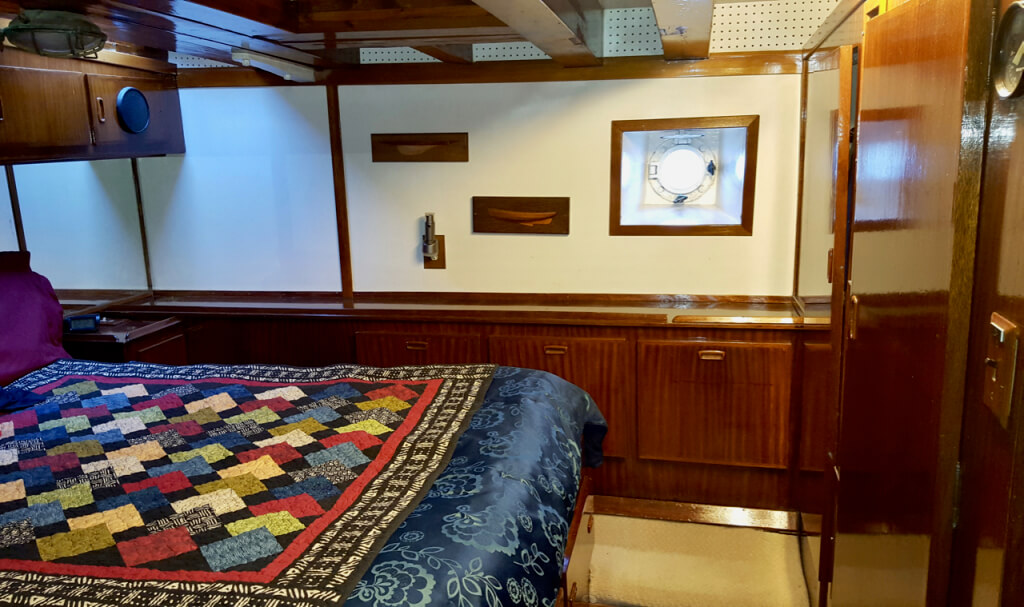 The master stateroom.